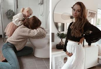 "This pregnancy sickness post has gone viral: ""My husband kindly snapped this photo…"""