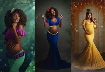 A photographer transforms mums-to-be into Disney Princesses and the stunning images go viral