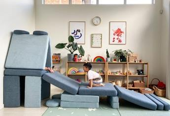 Parents are obsessed with this stylish kids play sofa because it is AWESOME!
