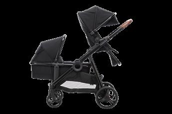 Babybee DUO2 Double Bassinet & Stroller Set