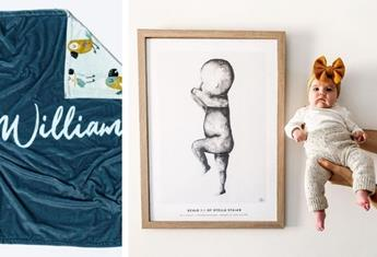Personalised baby gifts: Perfect for when you're looking for something sweet and sentimental!