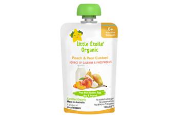 Little Étoile Organic Peach & Pear Custard