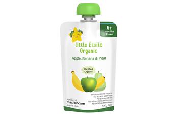 Little Étoile Organic Apple, Banana & Pear