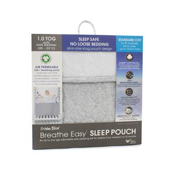 Breathe Easy® 1.0 Tog Sleep Pouch – Standard Cot