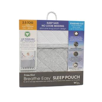 Breathe Easy® 2.5 Tog Sleep Pouch – Standard Cot