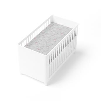 Silver Mist Bamboo Jersey Cot Fitted Sheet