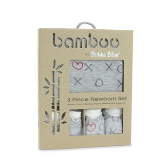 Silver Mist Bamboo 3pcs Newborn Layette Gift Set