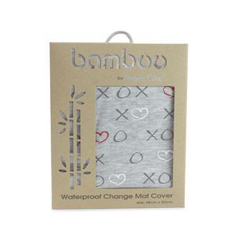 Silver Mist Bamboo Jersey Waterproof Change Mat Cover