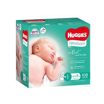 Huggies Newborn Nappies (Size 1)