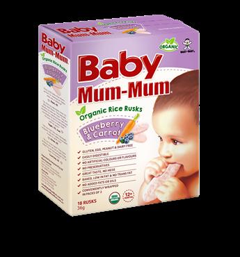 Baby Mum Mum Organic Rice Rusk Blueberry and Carrot