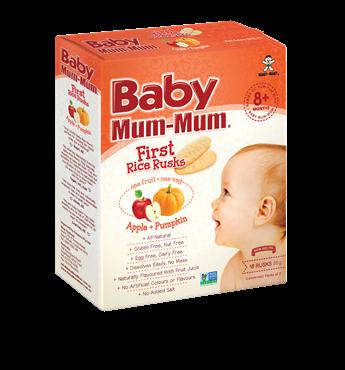 Baby Mum Mum Apple and Pumpkin First Rice Rusks