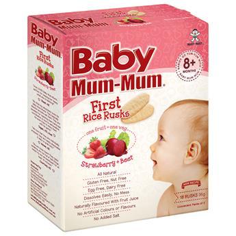 Baby Mum Mum Strawberry and Beet First Rice Rusks