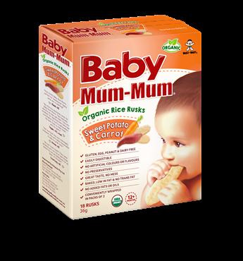 Baby Mum Mum Organic Rice Rusk Sweet Potato and Carrot