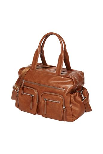 Faux Leather Carry All Nappy Bag
