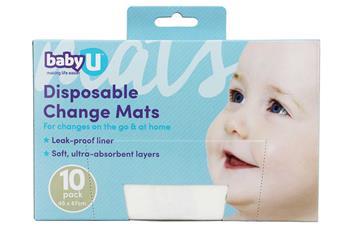 babyU Disposable Change Mats
