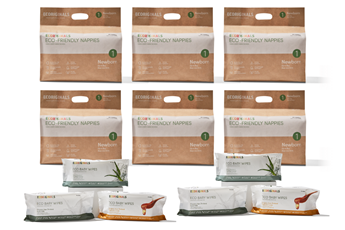 Ecoriginals Ultimate Eco Bundle – 6 Packs of Nappies + 6 Packs of Wipes