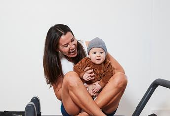 The pilates sequence designed for mums and their little ones to share at home