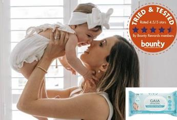 Trial team: Bounty members have their say on GAIA Natural Baby Plant-Based Water Wipes