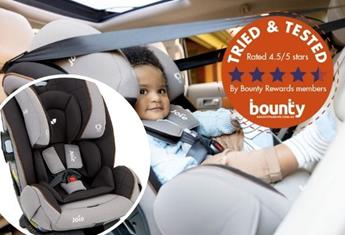 Trial team: Bounty members have their say on the JOIE armour™ fx car seat