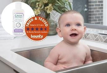 Trial Team: Bounty Parents have their say on GAIA Natural Baby Bubble Bath Sleeptime
